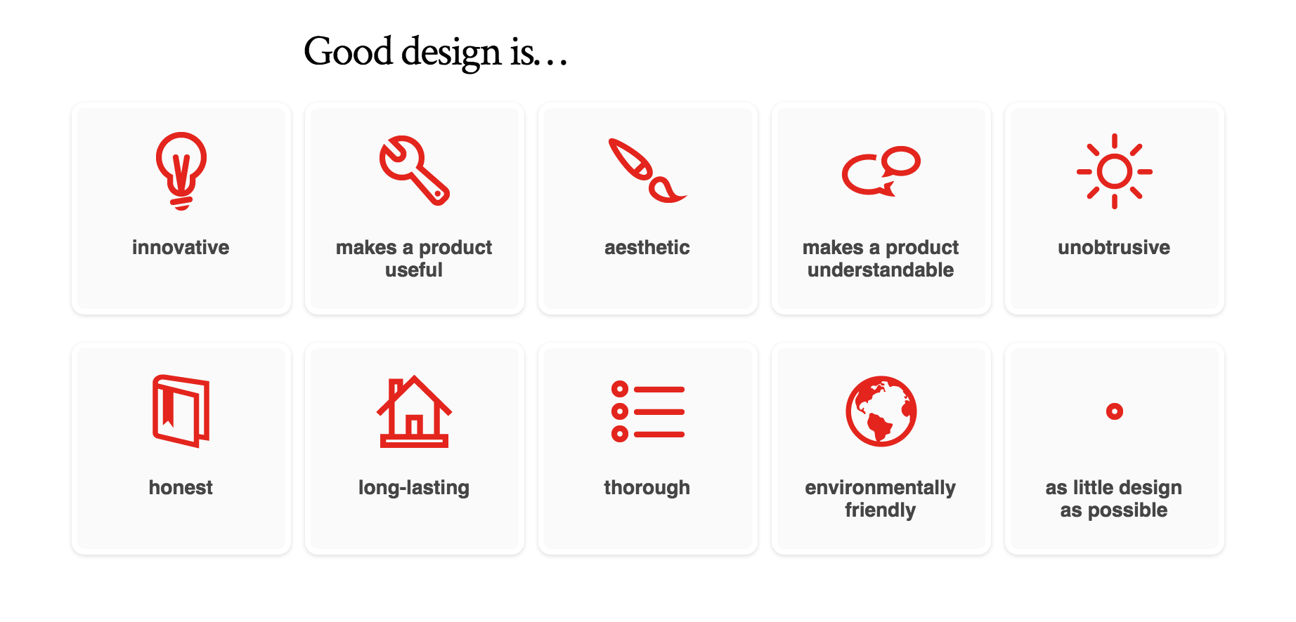 good design is