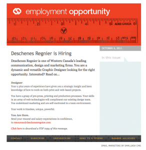 Deschenes Regnier is Hiring