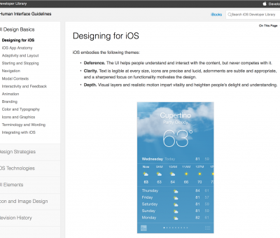 iOS Human Interface Guidelines summary